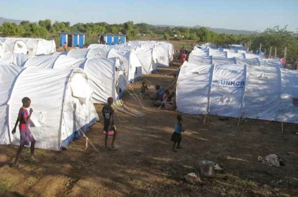 In the dry season: Tents in the reception area at Kakuma. Photo by James Macharia/Lutheran World Federation