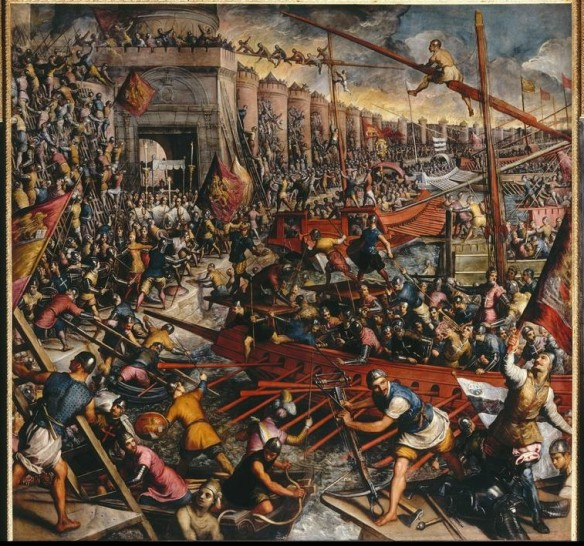 The Capture of Constantinople: Tintoretto (1518-1594), Ducal Palace, Venice