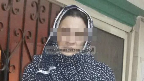 The arrest victim, face obscured by El-Watan
