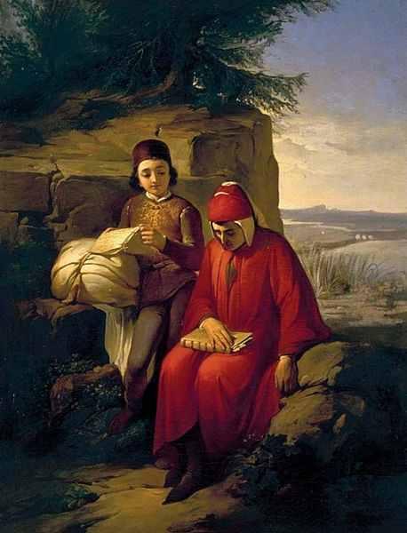 Annibale Gatti (1828-1909) Dante in Exile, Palazzo Pitti, Florence, Italy