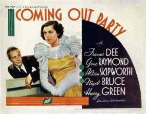 It's my party: Movie poster from 1934