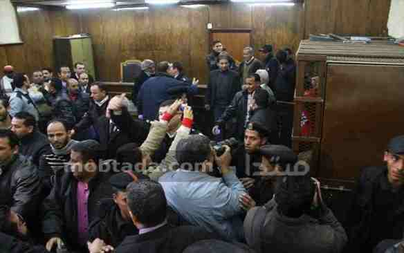 Courtroom chaos after the verdict in the bathhouse case is announced, January 12: Photo from yaablady.com.