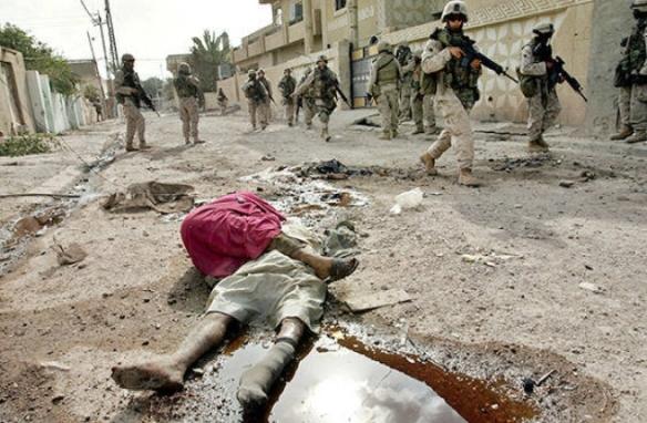 An image that did not go viral: US patrol in Fallujah, 2004. Photo by Anja Niedringhaus, AP