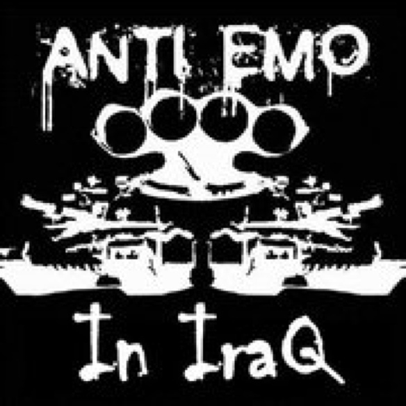 Anti-Emo meme (in English) from Baghdad, 2012