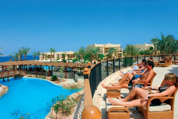 Roughing it: Brave Western investors at the Grand Hotel, Sharm el-Sheikh, try to locate Egypt's economic future on the horizon