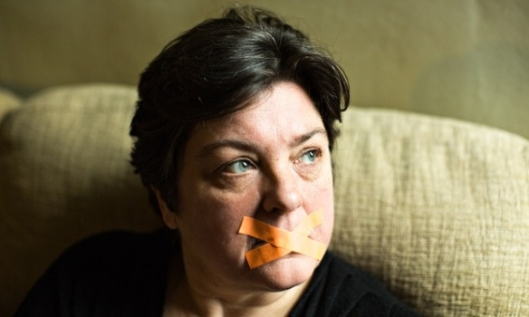 Censored? Julie Bindel: Photo by Elena Heatherwick for the Guardian