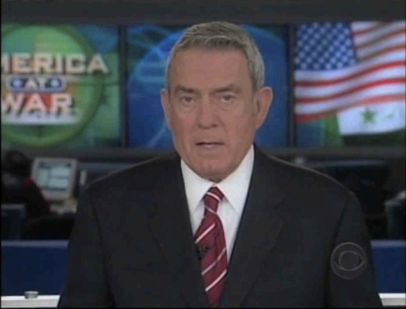 War boy: Dan Rather doing his duty