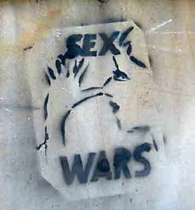 Sex wars: Anonymous stencil