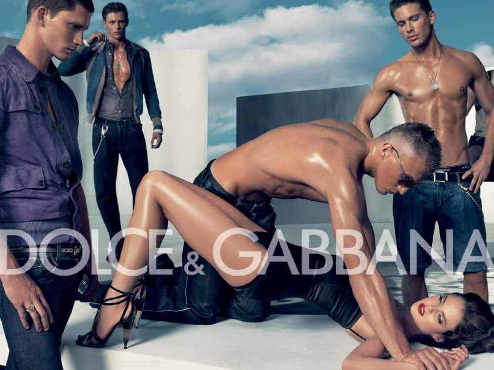 "Get your rights abuses here: Dolce & Gabbana ad from 2007. The US National Organization for Women called it ""beyond offensive, with a scene evoking a gang rape and reeking of violence against women."" But at least it's not synthetic."