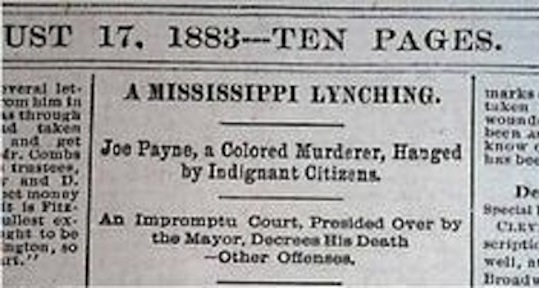 News report on an 1993 lynching. Exactly sixty days later, the Supreme Court overturned the Civil Rights Act.