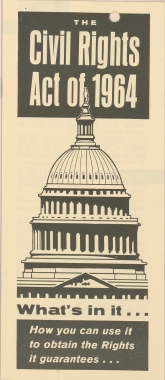 Cover of NAACP pamphlet explaining the Civil Rights Act