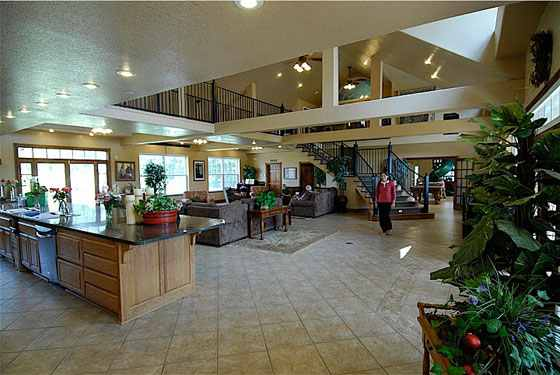 Arkansas modernism: The great room of the Duggar's house