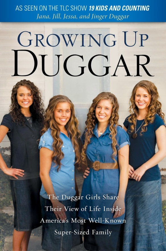 Four of the Duggar daughters on the cover of their tie-in book