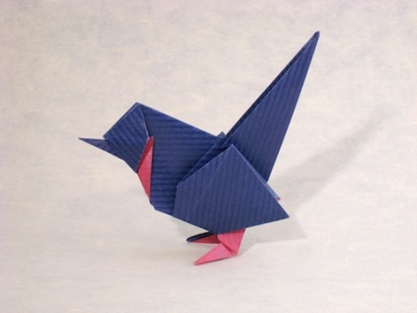 Origami Wren by Roman Diaz, folded by Gilad Aharoni: from giladorigami.com