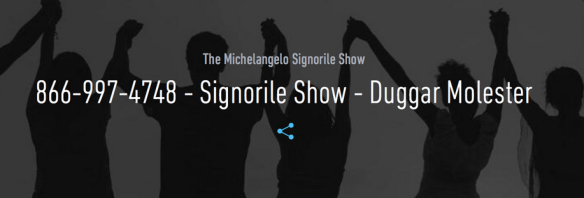 Promo for MIchael Signorile's radio show on the Duggan scandal. Ecstatic gays seem to be dancing in the background.