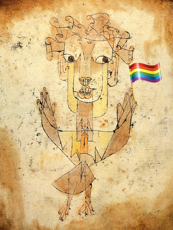 Angel of history: Paul Klee, Angelus Novus, not quite as seen by Walter Benjamin