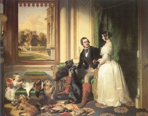Ideal marriage (child included, dogs and pheasants optional): Queen Victoria and Prince Albert, Painted by Sir Edwin Landseer (1840-43)