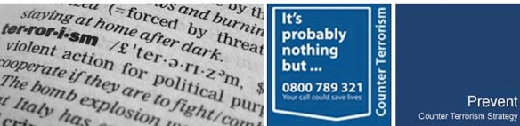 IF YOU SEE THIS WORD IN THE DICTIONARY, CALL THE POLICE NOW: Staffordshire Police banner for PREVENT, at http://www.staffordshire.police.uk/