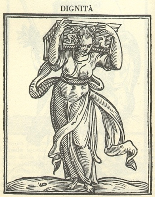 Iconologia depicting the Allegory of Dignity, by Cesare Ripa (c. 1560, – c. 1622)