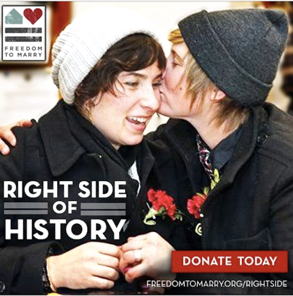 Angels of history, II: Meme from Freedom to Marry, a US NGO