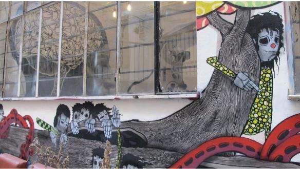 Anarchist graffiti in Exarchia. Photo by Alex Zaitchik
