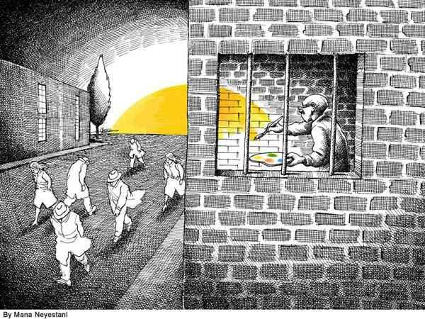 Cartoon by Mana Neyestani, from Payvand.com