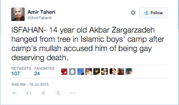 Taheri tweet