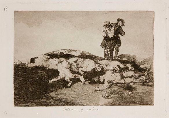 Enterrar y callar (Bury them and be quiet), plate 18 from Disasters of War