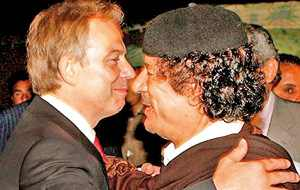 BP batty bwoys: Blair and Qaddafi share secrets, 2007