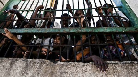Alleged Somali pirates in a prison in Berbera, Somaliland. Photo by Kabir Dhanji for NPR