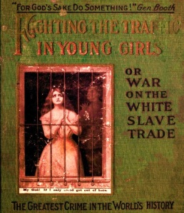 "Cover of a 1910 book on ""white slavery"" by Ernest Bell"