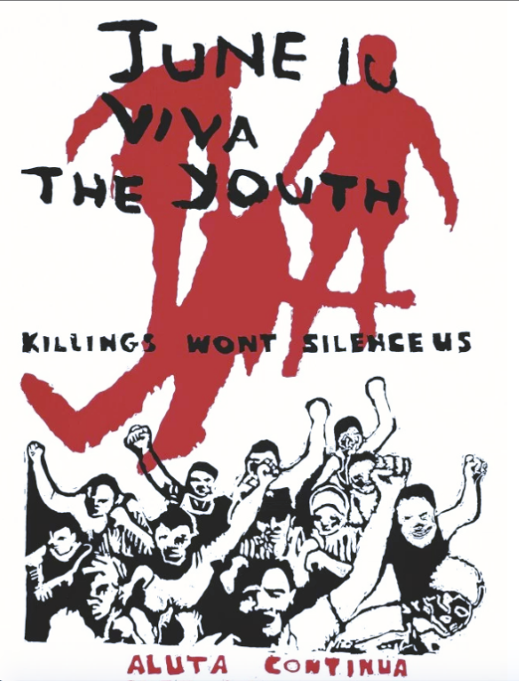Cape Youth Congress (CAYCO), June 16: Viva the Youth. Ca.1986commemorating the anniversary of the Soweto uprising. CAP Collection, UWC - Robben Island Museum Mayibuye Archives.