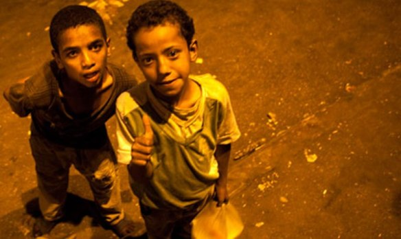 Street children in Midan Tahrir, Cairo, early 2013. Photo by Reuters