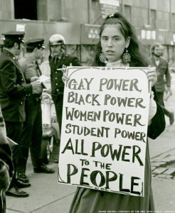 Gay Power, I: Protester in New York City, 1967. Photo: New York Public Library