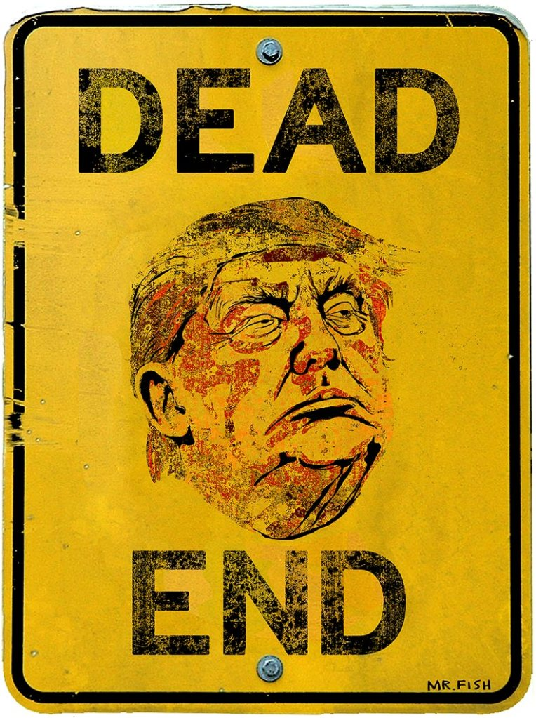 """""""Dead End,"""" by Mr. Fish, 2016"""
