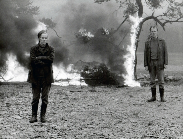 Liv Ullman and Max von Sydow in Ingmar Bergman's Skammen, 1968