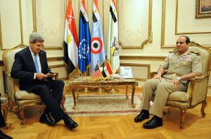 US Secretary of State Kerry meets with junta leader Sisi, Cairo, November 2013. Photo: US Department of State